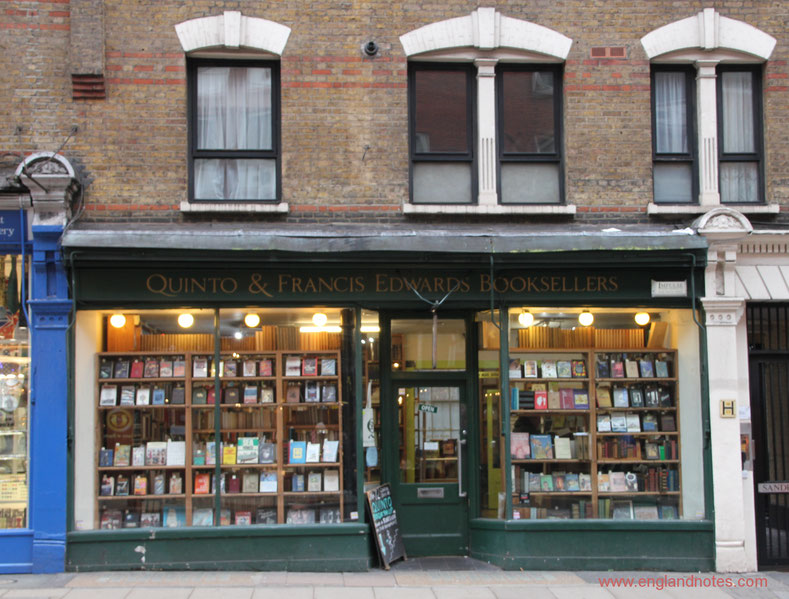 Die besten Buchläden in London: Quinto & Francis Edwards Booksellers