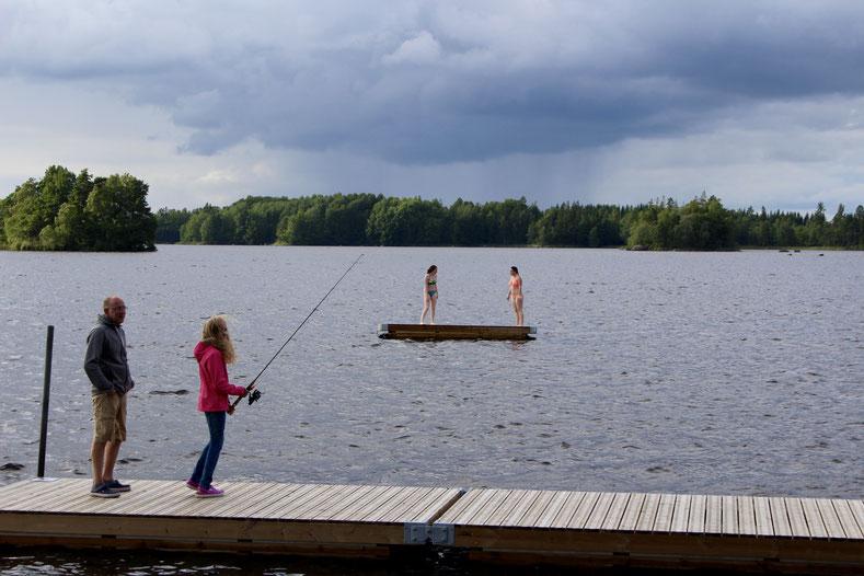 Bikini oder Jacke? Alles relativ hier in Schweden!