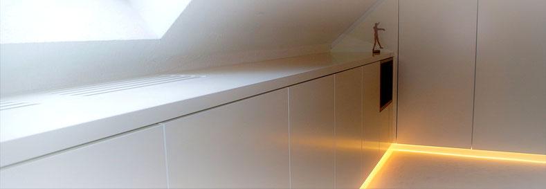 Planung Homeoffice. Innenarchitekt Rolf Kullmann, Atelier Feynsinn Köln