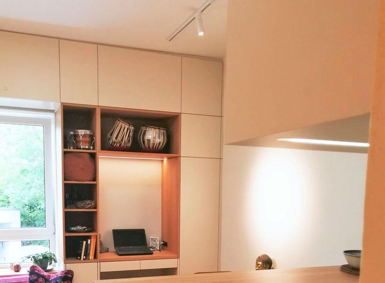 Planung eines Appartements durch den Innenarchitekten Rolf Kullmann,  Atelier Feynsinn Köln Mülheim