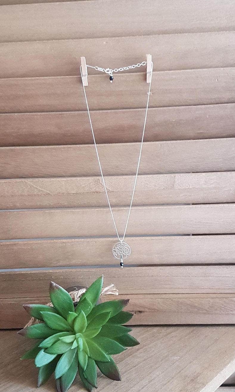 FAMILLE - Collier ARGENT 925, collier ARBRE DE VIE, collier fin, collier pendentif, bijou arbre de vie, collier nature, idée cadeau
