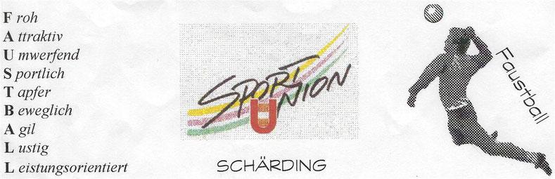 Sportunion Schärding Faustball Logo Froh Attraktiv Umwerfend Sportlich Tapfer Beweglich Agil Lustig Leistungsorientiert