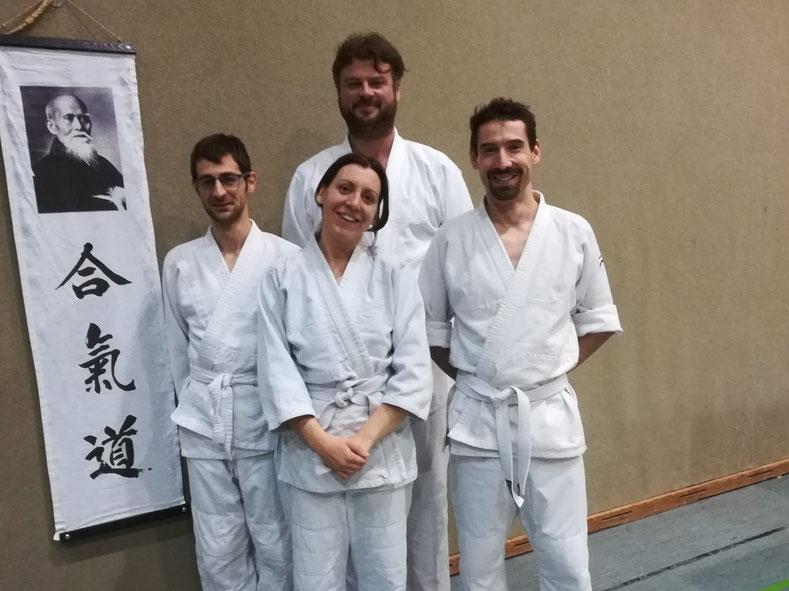 Nach einem intensiven Trainingsjahr legten am 17. Dezember 2019 Florian Schindler, Bettina Hemetsberger, Dominik Aigner und Stefan Kasbauer die Prüfung zum 5. KYU (Gelb-Gurt) ab