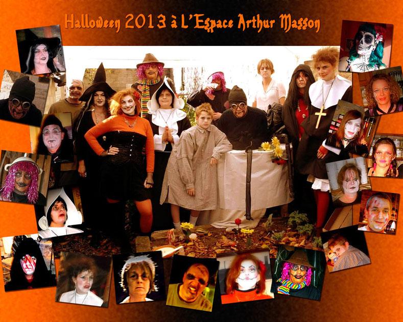 Toute l'équipe de l'Espace Arthur Masson lors d'Halloween en 2013