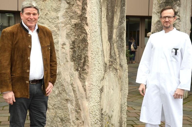 v.l.n.r .: Dr. Eckard Bader und sein Nachfolger Professor Dr. Frank Hartmann. Foto: Stiftung kreuznacher diakonie
