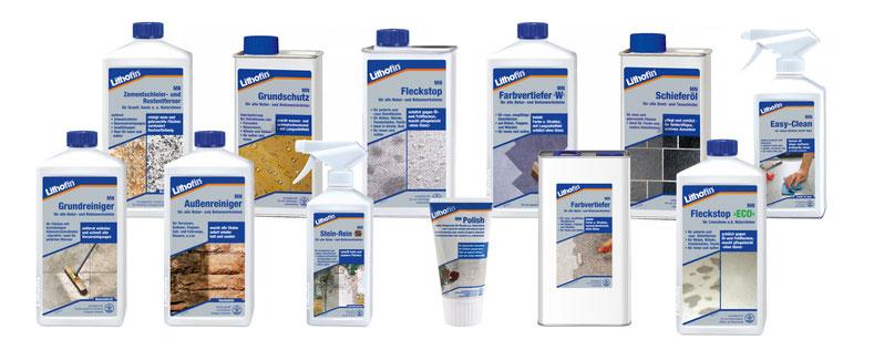 gamma prodotti di Lithofin MN per pietra naturali