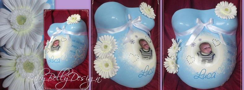 Der Gipsabdruck vom Babybauch / Überarbeitete Gipsabdrücke / Babybauchabdrücke (Bauchabdruck / Gipsbindenabdruck / Schwanger Gipsabdruck) Babybauch-Gipsabdruck - Gipsabdruck Babybauch
