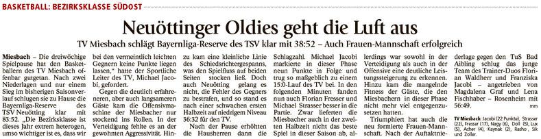 Bericht im Miesbacher Merkur am 16.11.2016 - Zum Vergrößern klicken