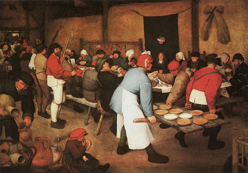 """Pieter Bruegel il Vecchio, """"Banchetto nuziale"""" (1568)"""