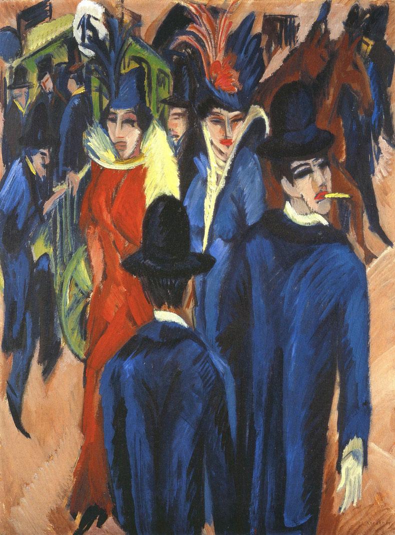 "E.L. Kirchner, ""Scena di strada berlinese"" (1913)"