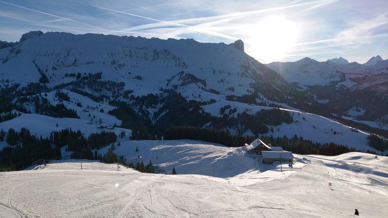 """Blick von der MARBACHEGG auf unseren Hof """"Ober Lochsitli"""" Januar 2019"""