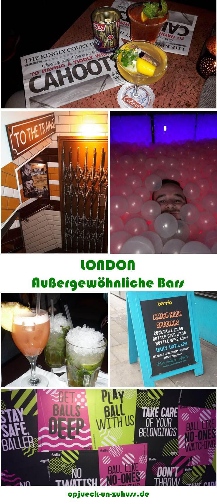 Außergewöhnliche Bars in London