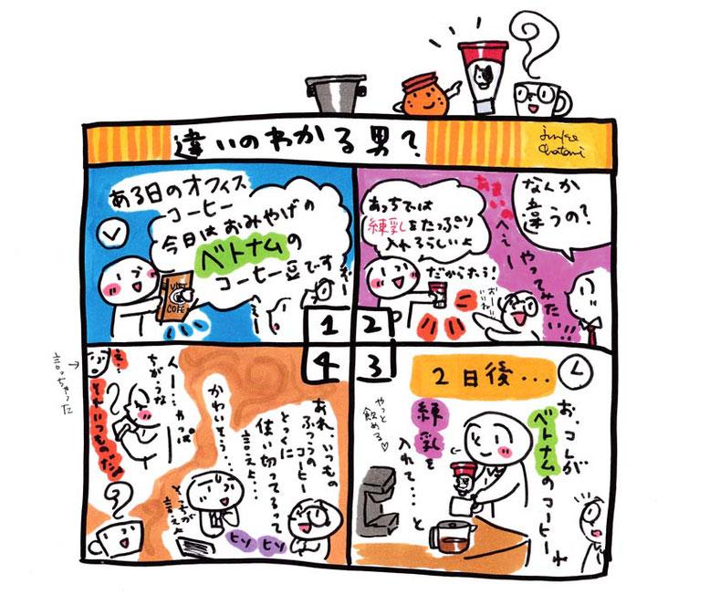 コーヒーイラスト 茶谷順子 4コマ漫画