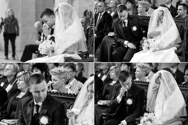 tränen bei der Hochzeit, weinen Hochzeit, hochzeitsreportage, st annenkirche, Trauung annaberg, annaberg-buchholz Hochzeit, Hochzeit Erzgebirge Fotograf,