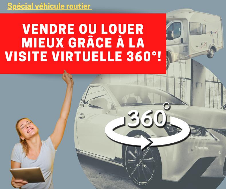 Visite 360° de véhicule proposer par Tremoulet Breton Jean Philippe, photographe à Montpellier pour le site liveinphoto.fr
