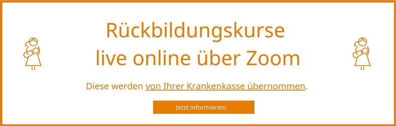 Live online Rückbildungskurse über Zoom in der Hebammenpraxis Andere Umstände