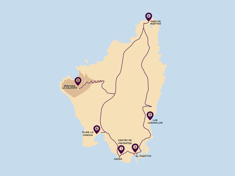Isla de Lobos Wander Karte