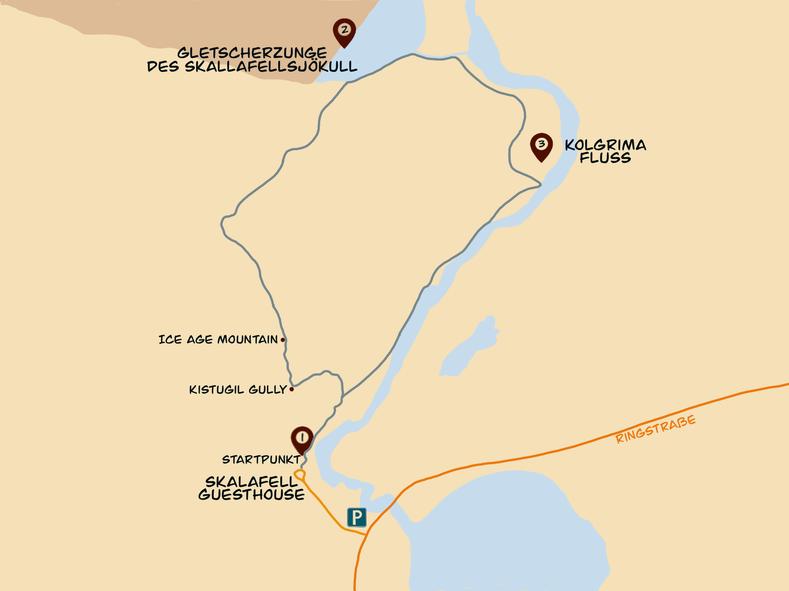 Karte Skalafellsjökull