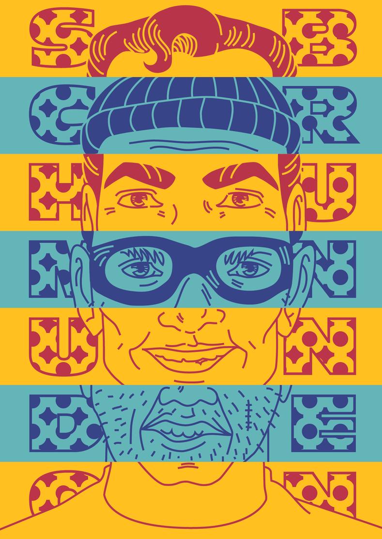 fasnacht design illustration melanie suter burglar einbrecher superheld helden ganoven schmudo brunnen