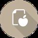 Link Symbol Ernährung - Apfel und Liste
