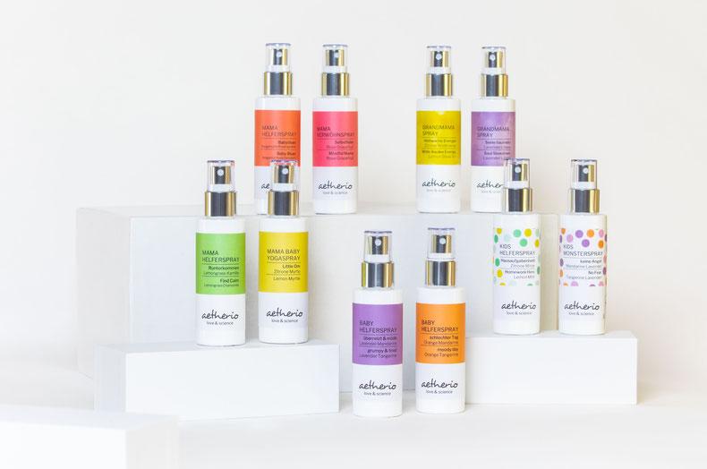 Unsere bio Aroma Sprays unterstützen Familien beim Wohlfühlen, Entspannen und Seele baumeln. Ein ganz tolles Geschenk!