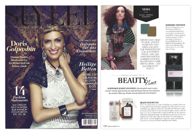 BE STYLED MAG Juni 2014**Himalayan Cristal SaltScrub & DETOX Bath UND Herbal Tea Blend**DUNE ROSE COLLECTION