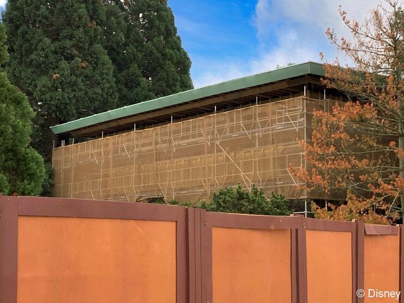 La réhabilitation des façades du Disney's Sequoia Lodge