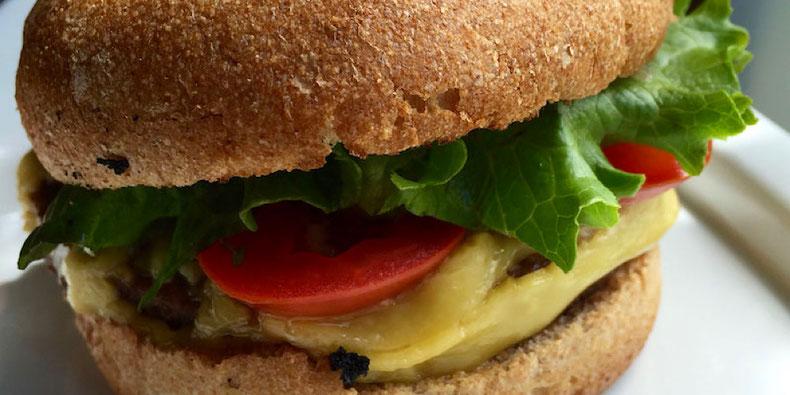 vegan cheeseburger at next level burger in portland oregon