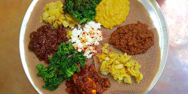 Traditional Ethiopian Platter