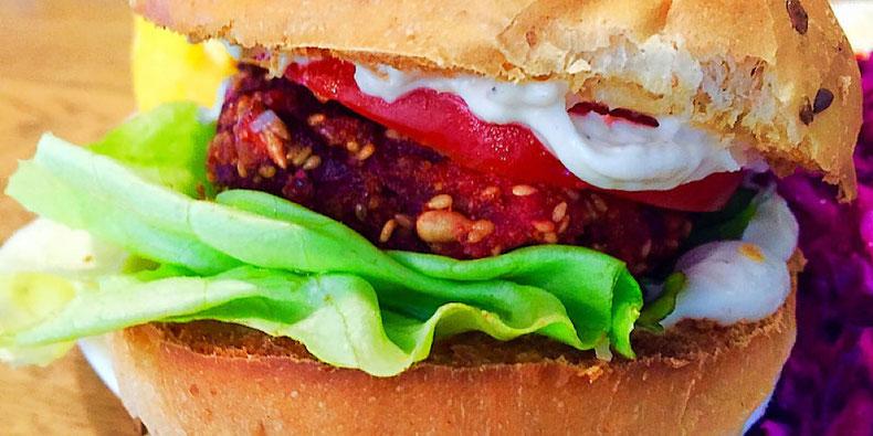 vegan burger at vega wroclaw poland