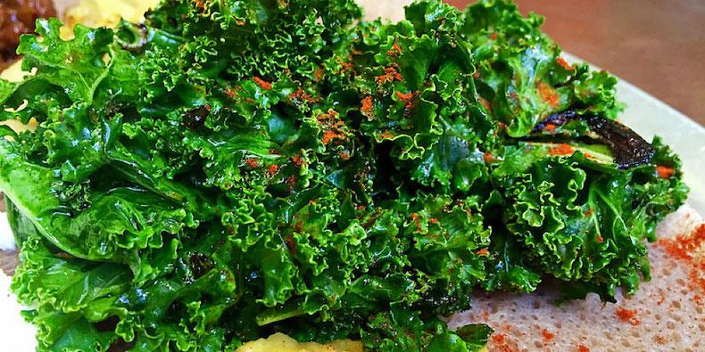 gomen Ethiopian kale salad