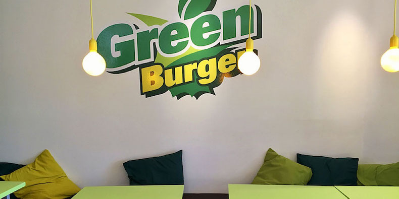 GreenBurger dining area