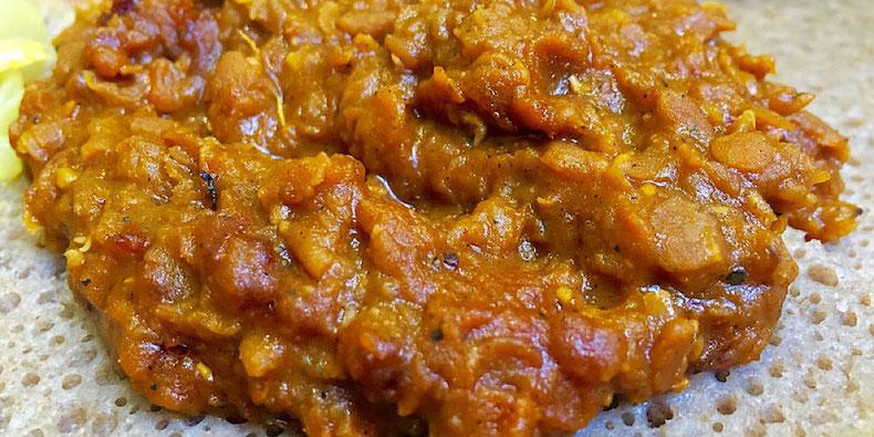 misir wot Ethiopian red lentil dish