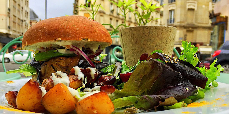 portabello burger abattoir vegetal paris france