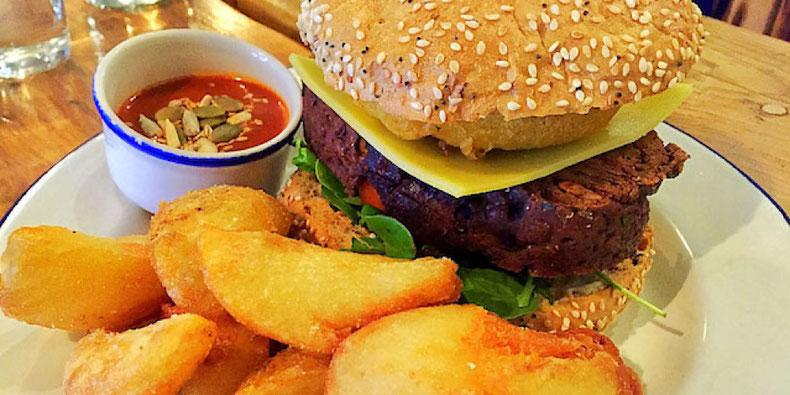 vegan cheeseburger from anna loka cardiff wales
