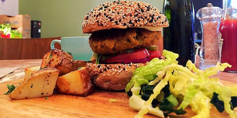 vegan burger from milgi cardiff wales