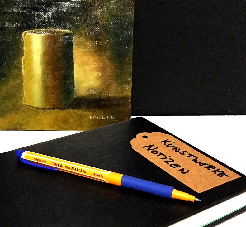 Führe eine Notizbuch über die Kunstwerke, die Du Dir anschaust
