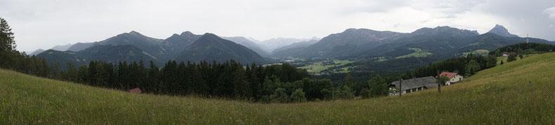 Blick über das Almtal vom Hacklberg