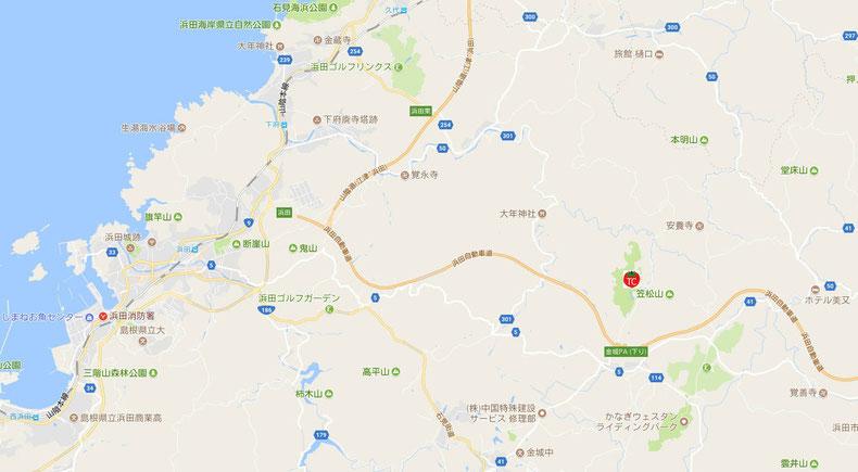 浜田市広域図(C)Google Maps