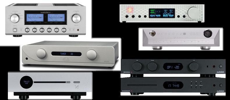 Audiolab, Creek, Quad, NuPrime, Mytek, Pro-Ject, Pioneer, Marantz, Denon