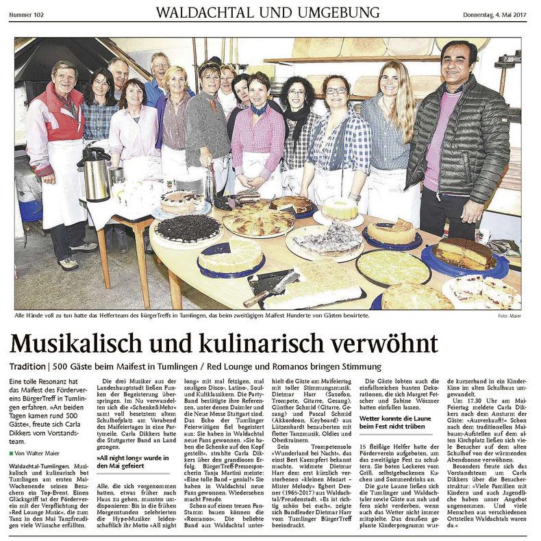 Pressebericht Maifest Tumlingen Schenke und mehr