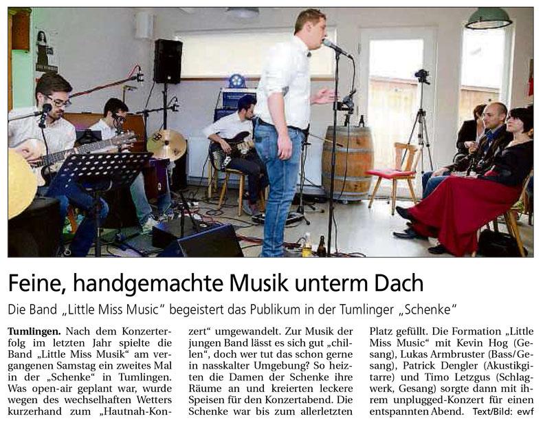 Pressebericht Bürgertreff Tumlingen, Südwestpresse 21. Juni 2016
