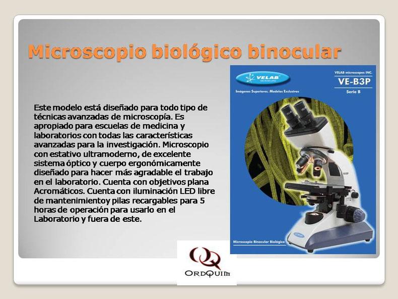 MICROSCOPIO BIOLÓGICO BINOCULAR VELAB MOD.VE-B3P