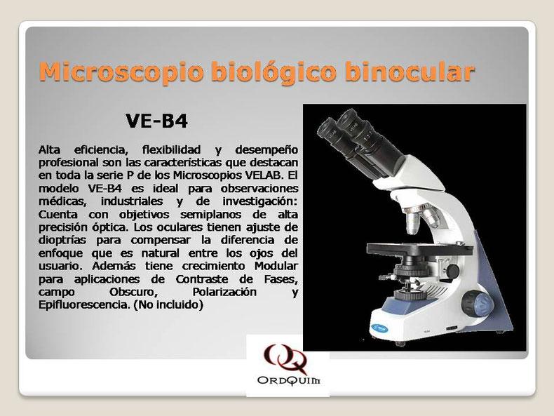 MICROSCOPIO BIOLÓGICO BINOCULAR VELAB MOD.VE-B4