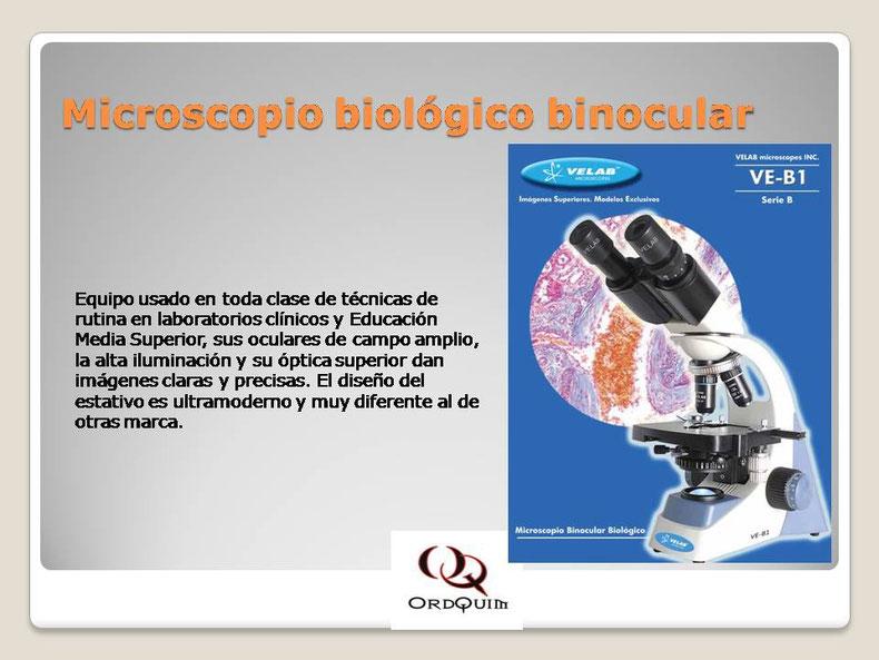 MICROSCOPIO BIOLÓGICO BINOCULAR VELAB MOD.VE-B1