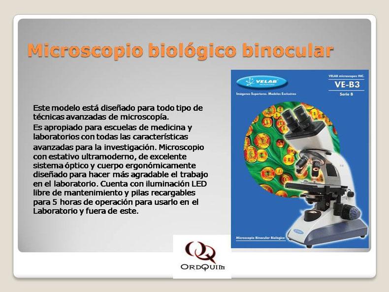 MICROSCOPIO BIOLÓGICO MONOCULAR VELAB MOD.VE-B3