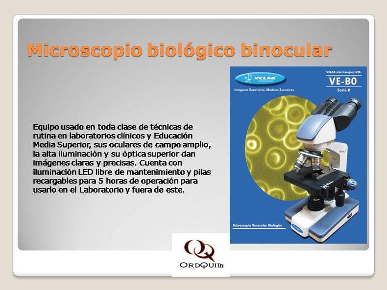MICROSCOPIO BIOLÓGICO BINOCULAR VELAB MOD.VE-B0