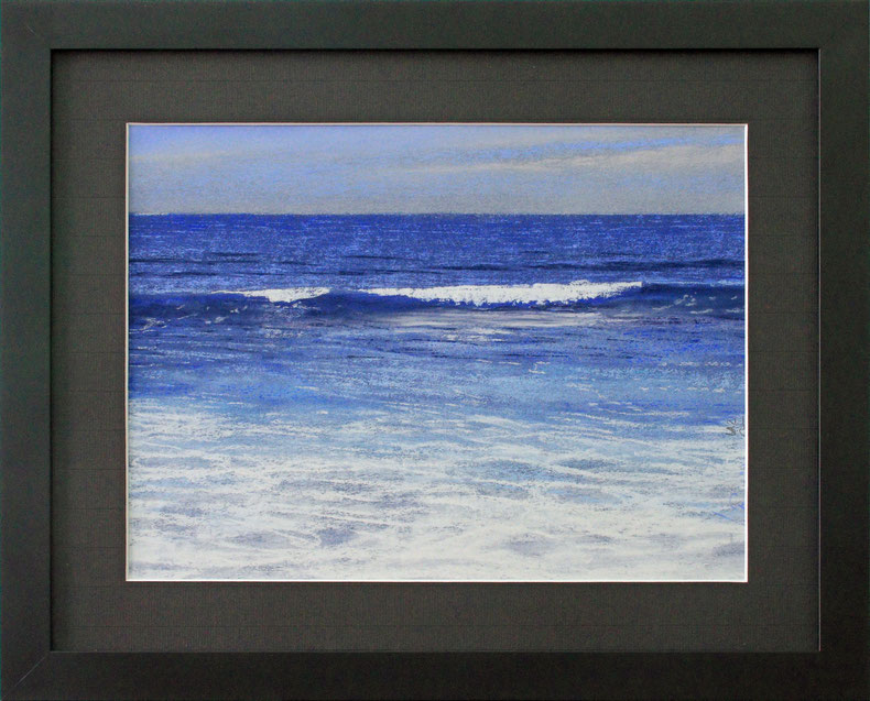"""Blaue Welle"" (Pastell), 50 cm x 40 cm"