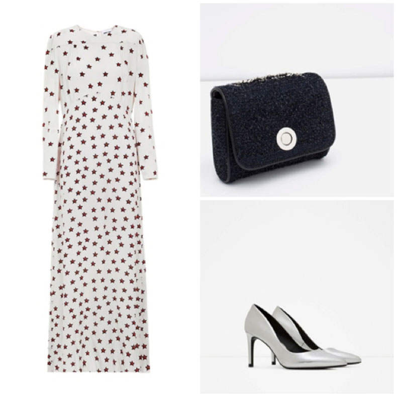 BIMBA & LOLA : DRESS. ZARA:  SHOES, BAG.