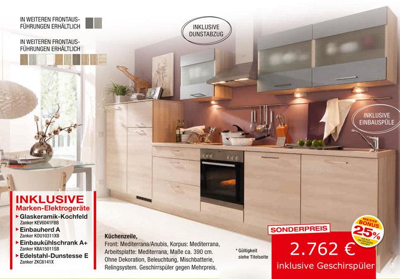 küche mit geschirrspüler zum abholpreis - wohnconcepte - Küche Mit Geschirrspüler